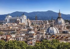 Domes and roofs of the eternal city, Rome Stock Images