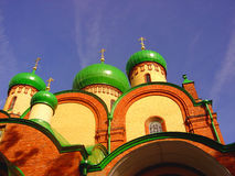 Domes of an russian abbey. In Petseri Estonia Royalty Free Stock Photos