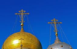 Domes of Russian Orthodox Church Stock Photo