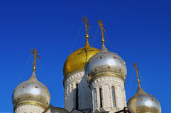 Domes of Russian Orthodox Church Royalty Free Stock Photography