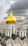 Domes of Russian Orthodox church dedicated to Archangel Michael at Cathedral Square in Moscow Kremlin Stock Image