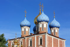 Domes of the Ryazan Kremlin Royalty Free Stock Photography
