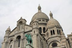 Domes of Sacre Coeur Cathedral, Paris, France Royalty Free Stock Photography
