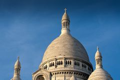 Domes of Sacre Coeur, Montmartre, Paris, France. Autumn. Beautiful sitycape Royalty Free Stock Photography