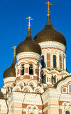 Domes of Saint Alexander Nevsky Cathedral in Tallinn Royalty Free Stock Images