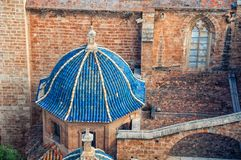 Domes of Saint Mary's Cathedral in Valencia, Spain Stock Photography