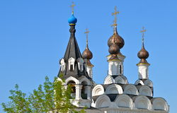 Domes of Saint Trinity Convent in Murom, Russia Royalty Free Stock Photo