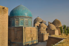 Domes in Samarkand Royalty Free Stock Photo