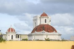 Domes of san juan church Royalty Free Stock Photo