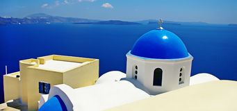 Domes of Santorini Royalty Free Stock Images