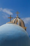 Domes in Santorini Stock Images