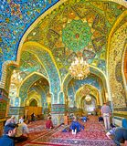 The domes of Shah`s Mosque in Tehran Stock Photo