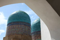Domes of shakhizinda Royalty Free Stock Photos