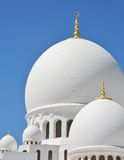 Domes of Sheikh Zayed Mosque in Abu Dhabi Royalty Free Stock Photography