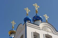 Domes of Spaso-Uspensky monastery, Orel, Russia Stock Image
