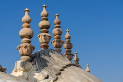 Domes and spires of the Nahargarh fort in Jaipur Royalty Free Stock Photo