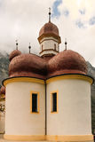 Domes of St Bartholoma Church. Konigssee. Germany Royalty Free Stock Photos