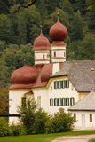 Domes of St Bartholoma Church. Konigssee. Germany Stock Photos