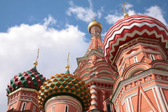 Domes of st.Basil cathedral in Moscow Royalty Free Stock Photography