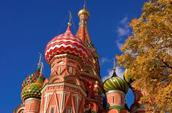 Domes of St. Basil's Cathedral Stock Photography
