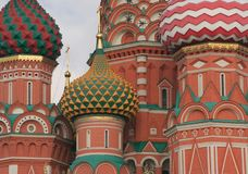 Domes of St. Basil's Cathedral Royalty Free Stock Photo