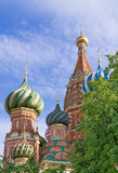 Domes of St. Basil's Cathedral Stock Images
