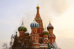 The domes of St. Basil's Cathedral Royalty Free Stock Photo