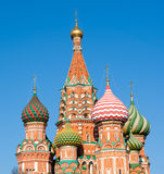 Domes of St. Basil's Cathedral, Moscow Royalty Free Stock Image