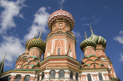 Domes of the St. Basil's Cathedral Stock Photos