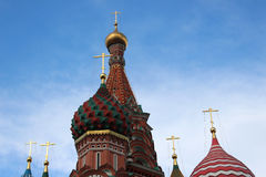 Domes of St. Basils Cathedral. Moscow Stock Photo