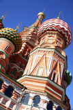 Domes of St. Basil's cathedral in Moscow Stock Photo