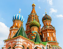 Domes of St. Basil's cathedral on Red Square Stock Photos