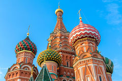 Domes of St. Basil's cathedral on Red Square Stock Image