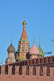 Domes of St. Basil's Cathedral on Red square in Moscow. Royalty Free Stock Image