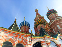Domes of St. Basil's Cathedral Royalty Free Stock Images