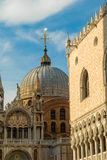 Domes of St. Mark's Basilica, Venice, Italy. Stock Image