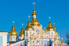 Domes of St. Michael's Golden-Domed Monastery Royalty Free Stock Photo