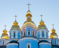 Domes of St. Michael's Golden-Domed Monastery Stock Image