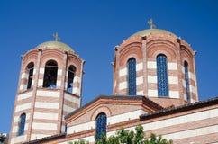 Domes of St.Nicholas Orthodox Church in Batumi,Georgia,Caucasus Royalty Free Stock Photo
