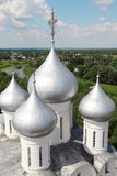 Domes of St. Sophia cathedral. In Vologda, Russia Royalty Free Stock Photo