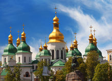 Domes of St Sophia Cathedral Royalty Free Stock Image