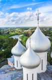 Domes of St. Sophia Cathedral of Vologda Kremlin, Russia. Domes of St. Sophia Cathedral of Vologda Kremlin Royalty Free Stock Photo
