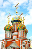 Domes on Stroganov Church Nizhny Novgorod Royalty Free Stock Photography