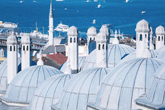 Domes of Suleymaniye Mosque Stock Photography