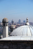 Domes of the Suleymaniye Mosque, Istanbul Royalty Free Stock Photos