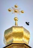 Domes Temple of Kiev-Pechersk Lavra Stock Photo