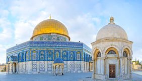 The Domes on the Temple Mount Stock Image