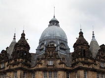 Domes and towers of leeds city market roof an ornate victorian h. Istoric building stock photos