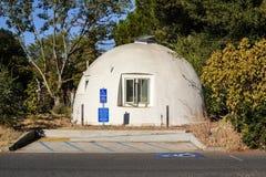 The domes at UC Davis. Davis, California, USA, 1 October 2016. The Domes at Baggins End. The Domes are an on-campus cooperative housing community. Consisting of stock photos