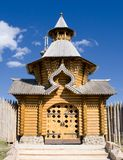 Domes of wooden church Royalty Free Stock Photography